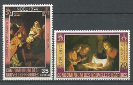 "Nles-Hebrides YT 404 & 405 "" Noël, Français "" 1974 Neuf** - Nuovi"