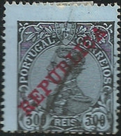 Portugal 1910 D Manuel II Overprinted REPUBLICA Cancel - Used Stamps