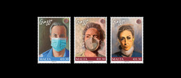"2021 Malta "" Malta Healthcare Heroes "" Set Of Three Stamps SG Nos 2159/2161 VF - Malta"