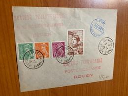Lettre - Journée Du Timbre Rouen 1939 - Covers & Documents