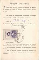 MAROC 5F POSTE AERIENNE TARIF CARTE D'ABONNEMENT AUX TIMBRES POSTES 26/02/72 - Luftpost