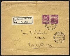 SUISSE 1924: LSC Rec. De Montreux Pour Zweisimmen Avec Le Tête-bêche ZNr. K19 - Brieven En Documenten