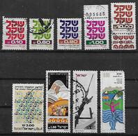 1980-1 Israel  9v. - Oblitérés (sans Tabs)