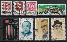 1980-2 Israel  8v. - Oblitérés (sans Tabs)