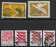 1980-5 Israel  6v. - Oblitérés (sans Tabs)