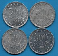 DEUTSCHES REICH LOT 4  X 500 MARK 1923 A KM# 36 - 200 & 500 Mark