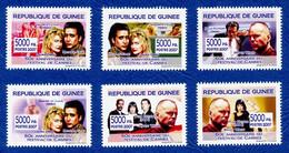 RÉPUBLIQUE DE GUINÉE 60e Anniversaire Du Festival De Cannes Neufs**. Bruce Willis; Nicolas Cage... Cinéma, Film, Movie. - Cinema