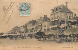 CPA 85 Vendée Les Sables D'Olonne Sur La Plage Grand Café Attelage Voiture Anes - Sables D'Olonne