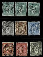 A1-tous Du Type I Sans Défaut Cote 300 Euros - 1876-1898 Sage (Tipo II)