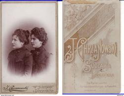 Romania,Rumanien,Roumanie-old Photo-CDV,Cabinet Photo Chrzanowski,Suceava, Suczawa, Bukowina - Ancianas (antes De 1900)