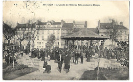 14 CAEN MUSIQUE KIOSQUE 1914 Tampon Hopital AUXILLIAIRE N° 102 CPA 2 SCANS - Caen