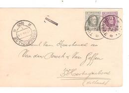 "REF3342/ TP 193-198 S/CP Sam .Maatschappij "" De Volkswil"" Turnhout C.Turnhout 1925 Griffe T > Holland C.Prinsenhage - Cartas"