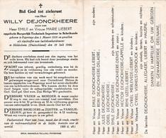 Oorlog 40-45 - Luchtbombardement DEJONCKHEERE Willy ° Poperinge 1920  + Hildeshein (d) 1944 - Religion & Esotericism
