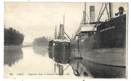 14 CAEN PAQUEBOTS 1914 LE RIKARD NOORDRAAK Tampon Hopital AUXILLIAIRE N° 102 CPA 2 SCANS - Caen