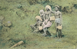 Solomon Islands Natives , Cimbo,  Nude Aborigines . Aborigènes  Nus . - Solomon Islands