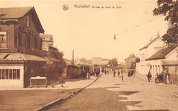 """¤¤  -   BELGIQUE   -   ROCHEFORT   -  Arrivée Du Train De Han  -  Chemin De Fer  -  Taverne """" BIRON """"      -   ¤¤ - Rochefort"""