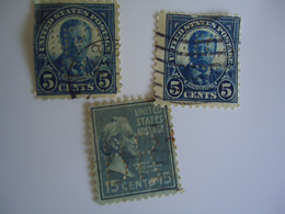 UNITED STATES USA  3  USED STAMPS  PERFINS  2 SCAN - Perforados