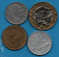 ITALIA LOT COINS 4 MONNAIES - Collections