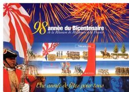 Télécarte Sous Blister Avec Encart, 5 Unités, Cinq Unités, MULHOUSE, 98ème Année Du Bicentenaire, - 5 Einheiten
