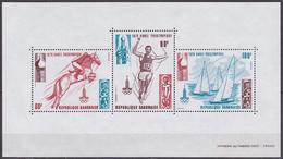 Bloc Feuillet Neuf ** N° 32(Yvert) Gabon 1979 - JO Moscou, équitation, Saut En Longueur Et Voile - Gabon