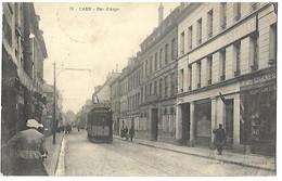 14 CAEN RUE D'AUGE 1915 Tampon Hopital AUXILLIAIRE N° 102 CPA 2 SCANS - Caen