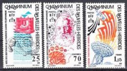 """Nles-Hebrides YT 426 à 428 """" Téléphone, Français """" 1976 Neuf** - Unused Stamps"""
