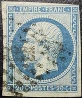 N°14A Napoléon 20c Bleu. Oblitéré Losange PC. N°2231 Navilly - 1853-1860 Napoleone III