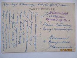 Belgien Malines Husaren Regiment 9, 1916 Nach Oldhorst Burgwedel (1077) - War 1914-18