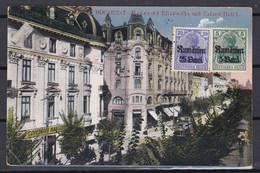 Militärverwaltung In Rumänien - 1918 - Bukarest Postkarte Mit Zensur - Occupation 1914-18