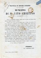 MUNICIPIO DI SAN VITO CHIETINO-29-AGO-1874-DOCUMENTO STORICO-IL TORRENTE FELTRINO INNONDAZIONE... TRAGICO EVENTO!- - Chieti