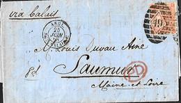 UK. LAC  TP 24 (Mi), 32 (Yv)  PL 9 Londres > Saumur  24/7/68   Angl. Amb. Calais C  VdL 134 - Briefe U. Dokumente