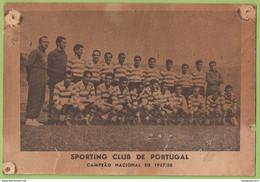 Lisboa - Sportingo Clube De Portugal, Campeão 1957/58 Estádio De Alvalade Futebol Football Stadium Publicidade Portugal - Soccer