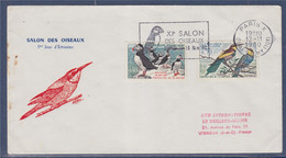 Xiè Salon Des Oiseaux 10-14 Nov 60 Flamme Paris 12.11.60 Enveloppe Illustrée N°1274 1276 Macareux Guêpier Camargue - Annullamenti Meccanici (pubblicitari)
