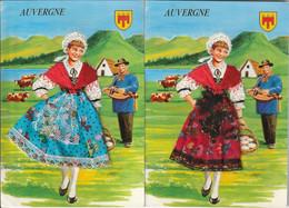 2 Cartes Région Auvergne Robe En Tissu ( Garcia ) - Auvergne