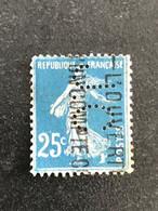 FRANCE J N° 140 Semeuse J.C 27 Indice 6 Perforé Perforés Perfins Perfin Tres Bien ! - Perfins
