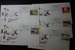 AEROSPATIALE LYCEE POTEZ A MEAULTE 5 Enveloppes - Gedenkstempel