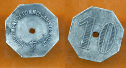 JETON // POISSY (78 Yvelines) // GROUPEMENT DE COMMERCANTS // Dix Centimes - Monetary / Of Necessity