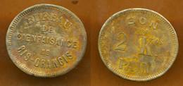 JETON // RIS-ORANGIS (91 Essonne) // BUREAU DE BIENFAISANCE // Bon Pour 2 Kilos De Pain - Monetary / Of Necessity