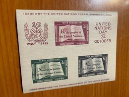 Nations Unies New York 1955- Bloc N1 YT Neuf TTB - Blocs-feuillets