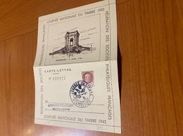 Carte Lettre - Journée Du Timbre Montpellier 1943 - Covers & Documents
