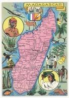 CPSM - MADAGASCAR - Carte Géographique De L'Ile - Ed Blondel La Rougery - Madagascar