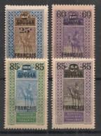 Soudan - 1922-27 - N°Yv. 42 - 43 - 45 - 46 - 4 Valeurs Surchargées - Neuf Luxe ** / MNH / Postfrisch - Neufs
