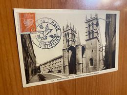 Carte - Journée Du Timbre Montpellier 1943 - Covers & Documents