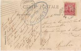 Brazil & Marcofilia, Amitie Sincere, Censura, Rio De Janeiro A Lisboa  1916 (6586) - Cartas