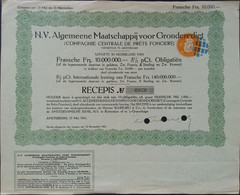 Comp. Central De Prêts Fonciers / Diverse Waarden Francs, Zw, Pond Sterling, Zw Kronen - Sin Clasificación