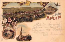 MENZIKEN SWITZERLAND~TOTALANSICHT-SCHUL HAUS-STERNEN-KIRCHE~1903 KUNZLI MULTI IMAGE POSTCARD 51620 - AG Argovie