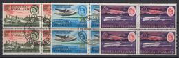Rhodesia & Nyasaland, Scott 180-182 (SG 40-42), Used Blocks - Rhodesien & Nyasaland (1954-1963)