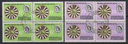 Rhodesia & Nyasaland, Scott 189-190 (SG 48-49), Used Blocks - Rhodesien & Nyasaland (1954-1963)