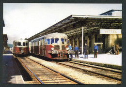 """Photo-carte Moderne """"Autorails De Dietrich En Gare De Vittel - Années 50"""" Train - Chemin De Fer - Trains"""