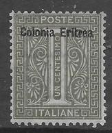 Italia Italy 1893 Colonie Eritrea De La Rue C1 Sa N.1 Nuovo MH * - Eritrea